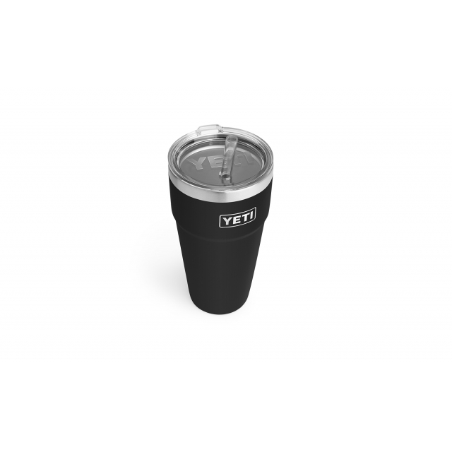 YETI - Rambler 26 oz Stackable Cup with Straw Lid - Black in Orange City FL