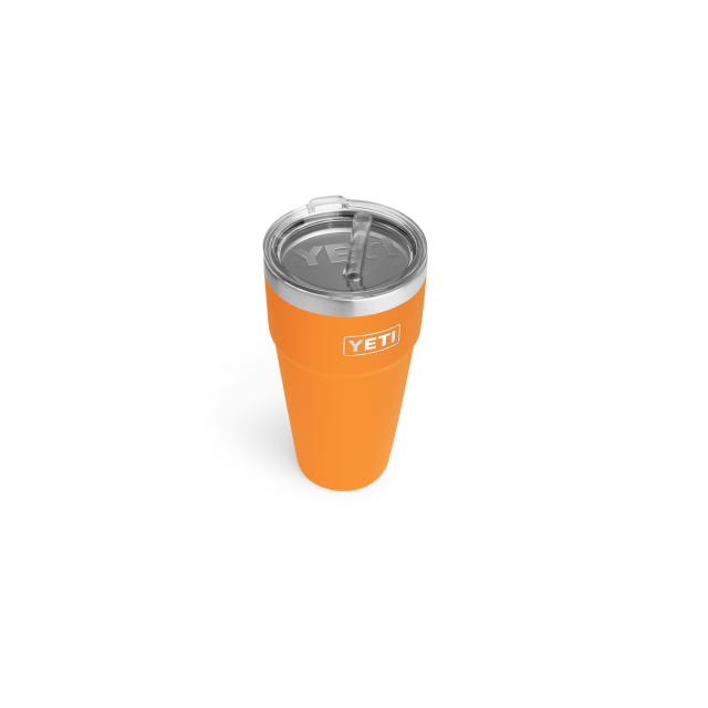 YETI - Rambler 769 ML Stackable Cup with Straw Lid - King Crab Orange