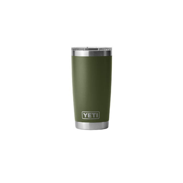 YETI - Rambler 20 oz Tumbler with MagSlider Lid - Highlands Olive