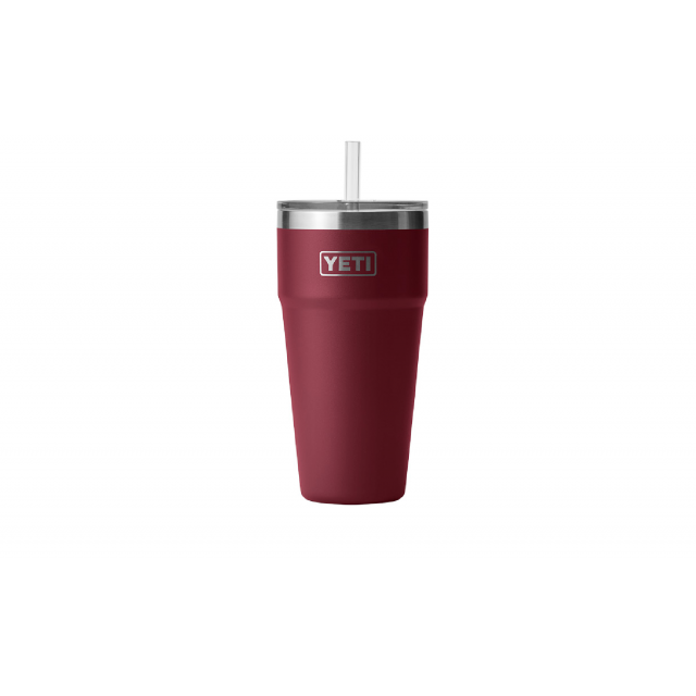 YETI - Rambler 26 oz Stackable Cup with Straw Lid - Harvest Red in Jena LA