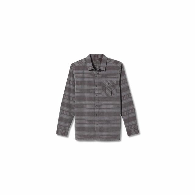 Men's Covert Cord Organic Cotton Stripe L/S