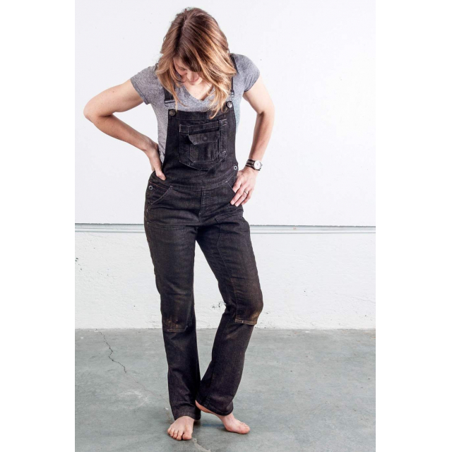 Dovetail Workwear - Women's Freshley Overall in Black Denim in Sioux Falls SD