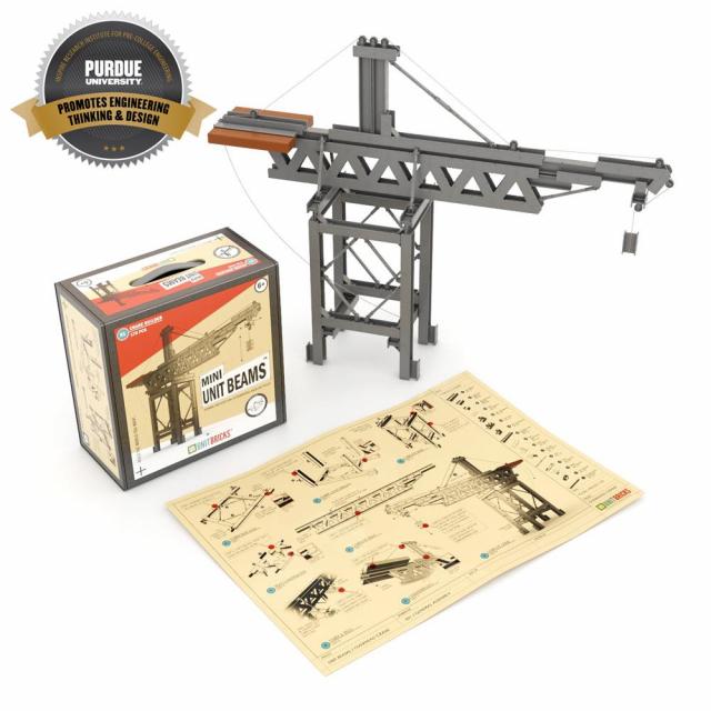 Unit Bricks - Mini Unit Beams Cranes Set