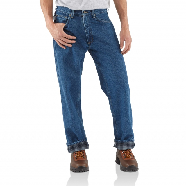 Carhartt - Relaxed Fit Jean - Straight Leg/Flannel in Chelan WA