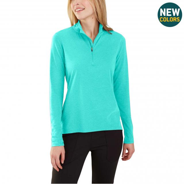 Carhartt - Women's Force Delmont Quarter Zip Shirt in Lafayette CO