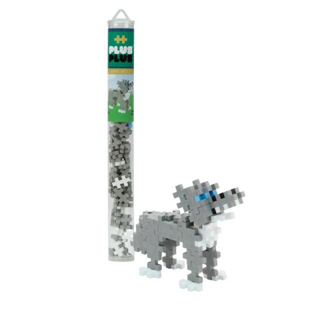 Plus-Plus - 70 pc Tube - Gray Wolf