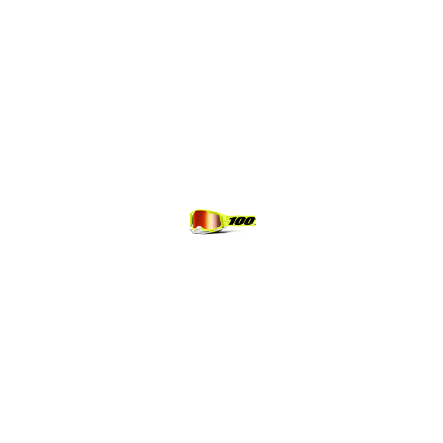 100percent Brand - Racecraft 2 Goggle Fluo Yellow - Mirror Red Lens