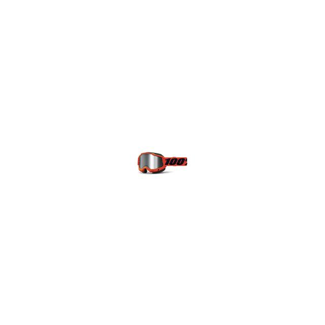 100percent Brand - Accuri 2 Snowmobile Goggle Neon Orange - Mirror Silver Lens