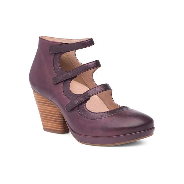 Dansko - Women's Marlene Wine Burnished Calf