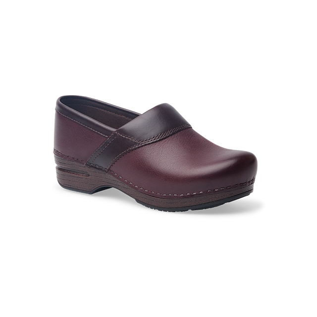 Dansko - Women's Poppy Bordeaux Burnished Nubuck