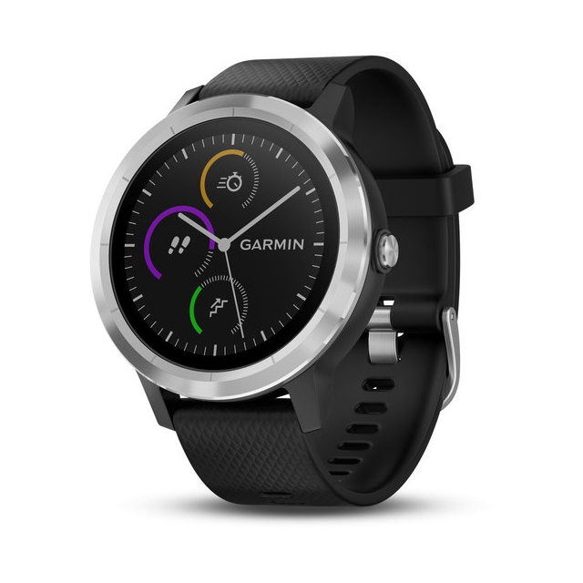Garmin - Garmin vívoactive® 3, Black with Stainless Hardware in Cedar Falls IA