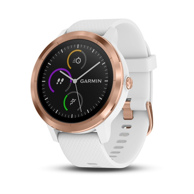 Garmin - Garmin vívoactive® 3, White with Rose Gold Hardware in Santa Rosa Ca