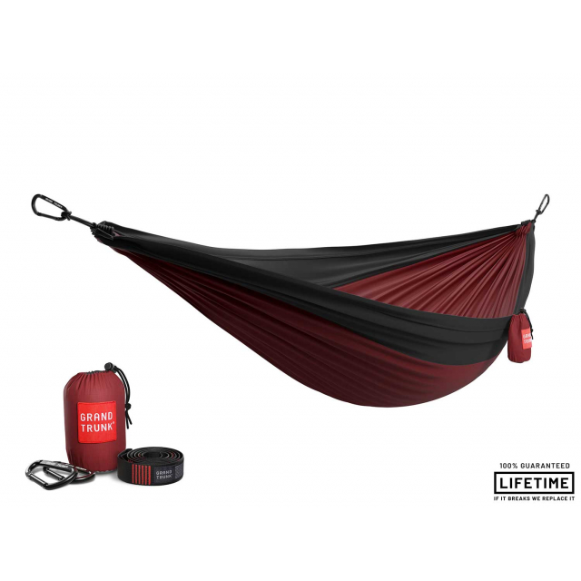 Grand Trunk - Double Parachute Nylon Hammock with Straps in Alamosa CO
