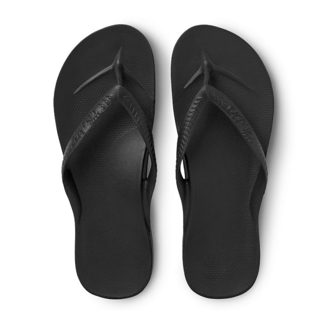 Archies - Arch Support Flip Flops - Black