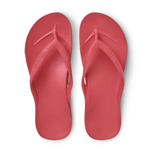 Archies - Arch Support Flip Flops - Coral