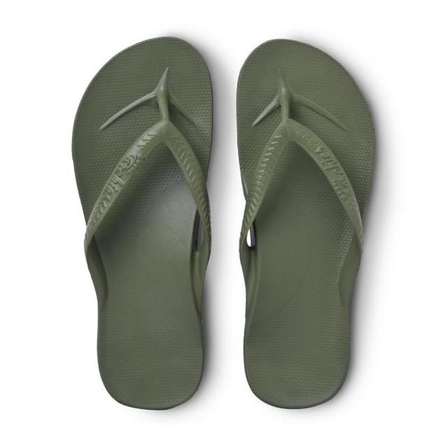 Archies - Arch Support Flip Flops - Khaki