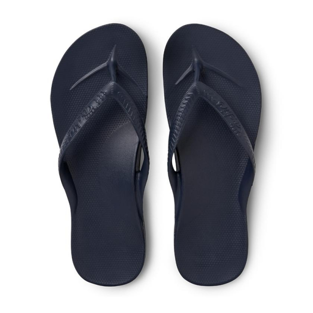 Archies - Arch Support Flip Flops - Navy