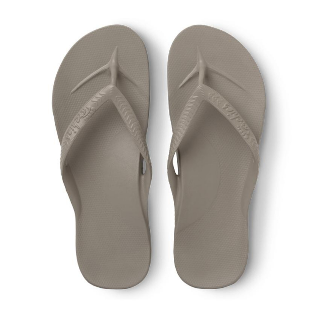 Archies - Arch Support Flip Flops - Taupe