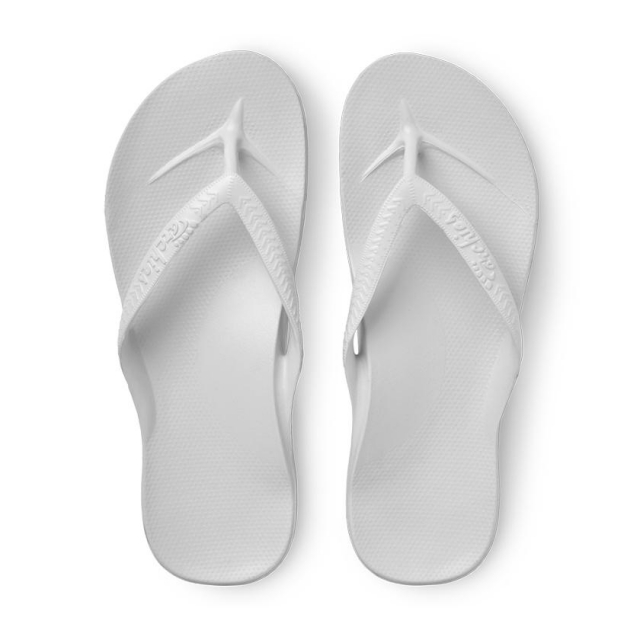 Archies - Arch Support Flip Flops - White