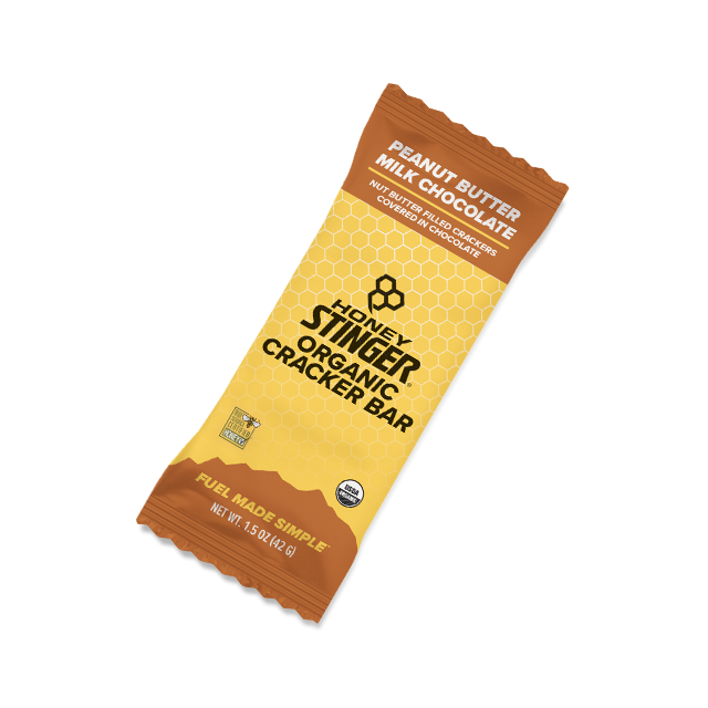 Honey Stinger - Organic Cracker Bars - 1.5oz Bar Box of 12 - Peanut Butter Milk Chocolate in Sedona AZ