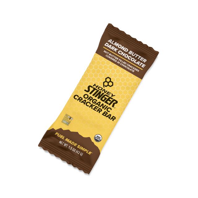 Honey Stinger - Organic Cracker Bars - 1.5oz Bar Box of 12 - Almond Butter Dark Chocolate in Dumont CO