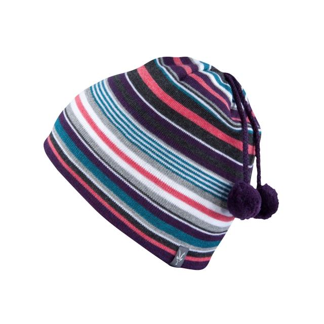 Ibex - Women's Stripe Double Pom Beanie