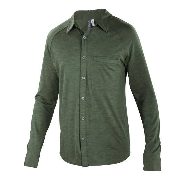 Ibex - Men's OD Heather Long Sleeve Shirt