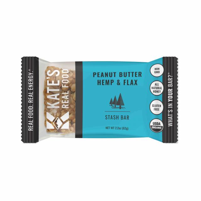 Katie's Real Food - Single Bar   Peanut Butter Hemp & Flax