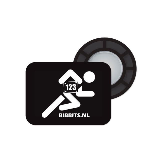 BibBits - Magnetic Race Bib Holders-Black, Runner