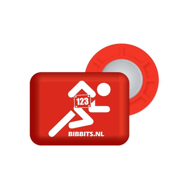 BibBits - Magnetic Race Bib Holders-Red, Runner