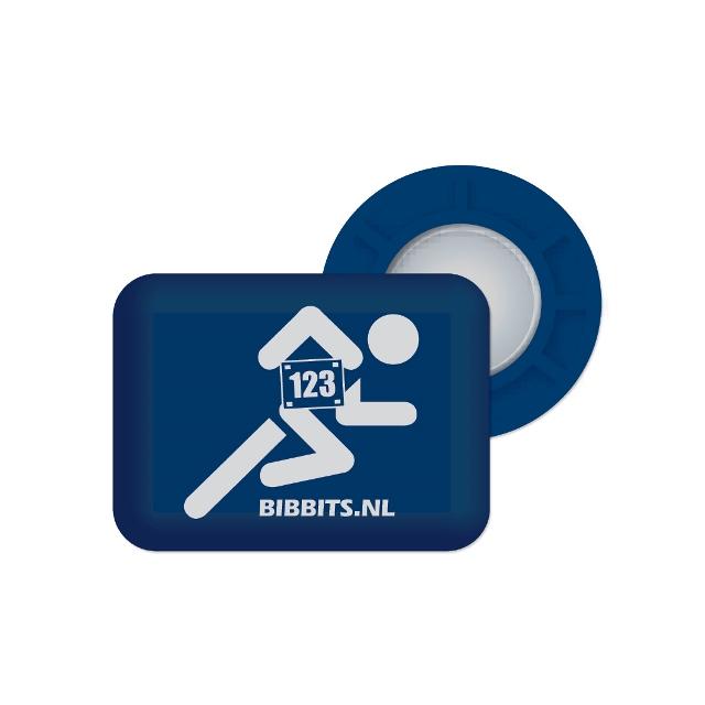 BibBits - Magnetic Race Bib Holders-Blue, Runner