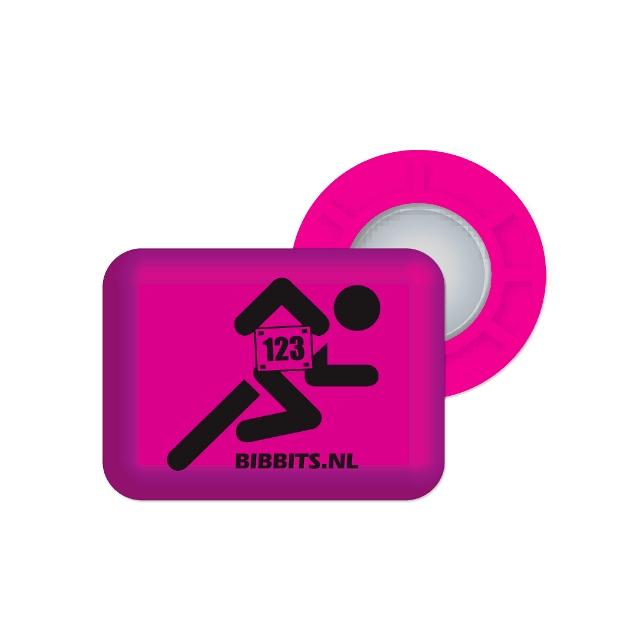 BibBits - Magnetic Race Bib Holders-Pink, Runner