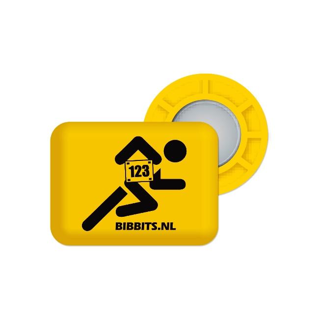 BibBits - Magnetic Race Bib Holders-Yellow, Runner