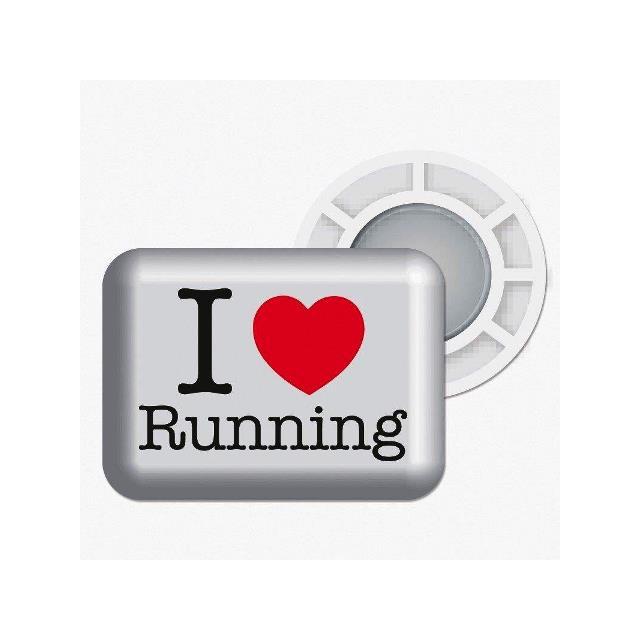 "BibBits - Magnetic Race Bib Holders ""I Love Running"""