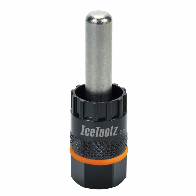Icetoolz - Cassette & center lock disc brake remover for Shimano CS W/12mm guide pin.