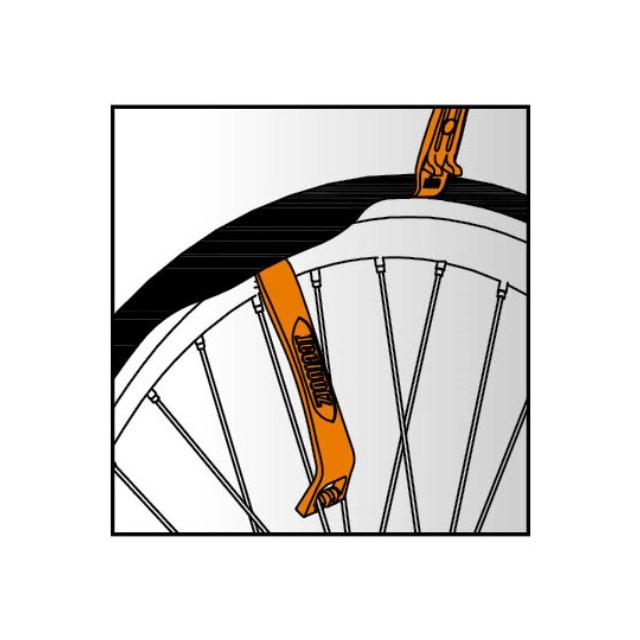 Icetoolz - Tire Lever Set (2 pcs) Duo-function fiberglass