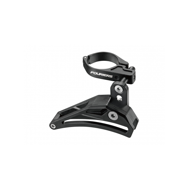 Fouriers - SEAT TUBE CLAMP CHAIN GUIDE. With 34.9 adapter to 31.8 Material: AL6061-T6 Chain guard Spec: 34.9mm Color: S.B Black/Black Weight: 80g