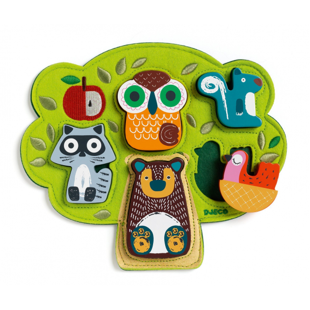 DJECO - Oski Embroidered Felt and Wooden Puzzle in Bethesda MD