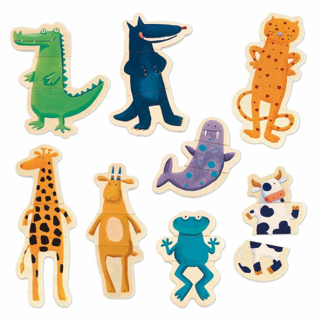 DJECO - Crazy Animal Mix & Match Wooden Magnets in Bethesda MD