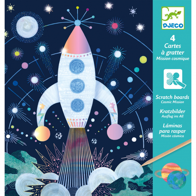 DJECO - Cosmic Mission Metallic Scratch Card Activity Set in Bethesda MD