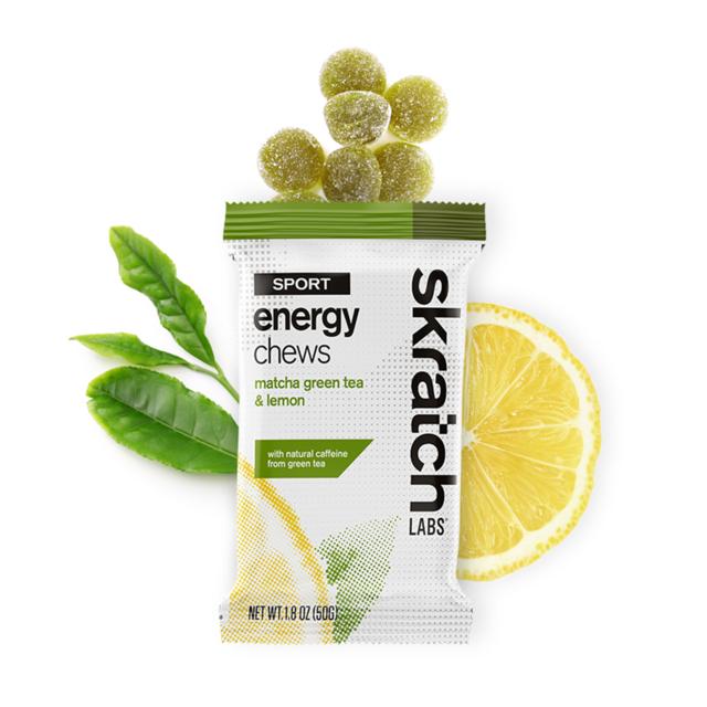 Skratch Labs - Sport Energy Chews, Matcha Green Tea & Lemon, Single Serving