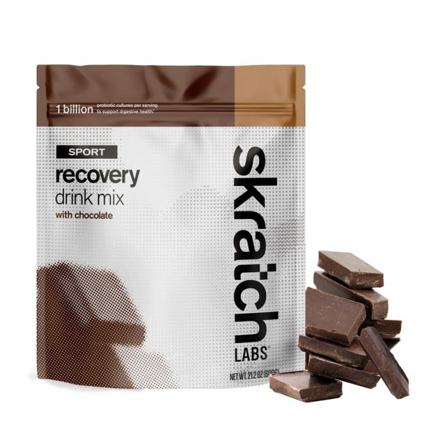 Skratch Labs - Sport Recovery Drink Mix, Chocolate, 12-Serving Resealable Pouch