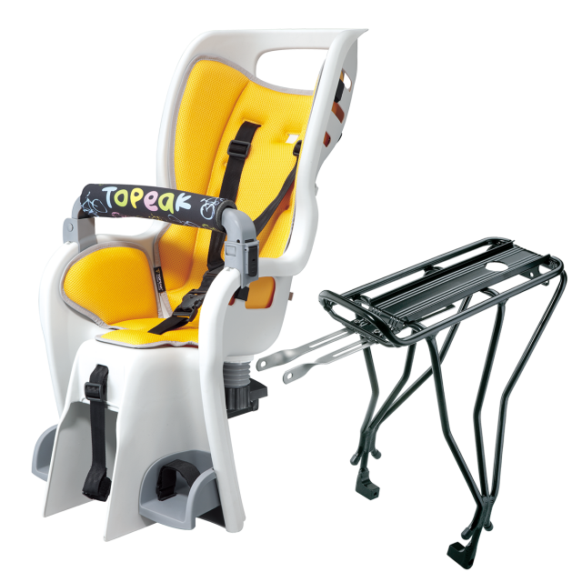 "Topeak - BabySeat II w/disc mount rack, for 26"" wheel, Yellow color seat pad in Sedona AZ"