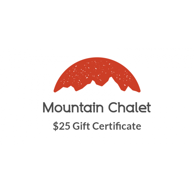 Local Gear - Mountain Chalet $25 Gift Certificate