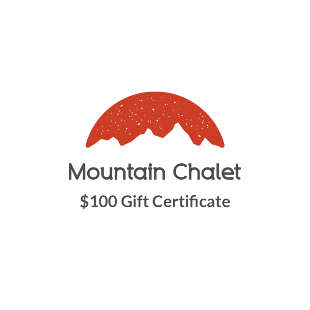 Local Gear - Mountain Chalet $100 Gift Certificate
