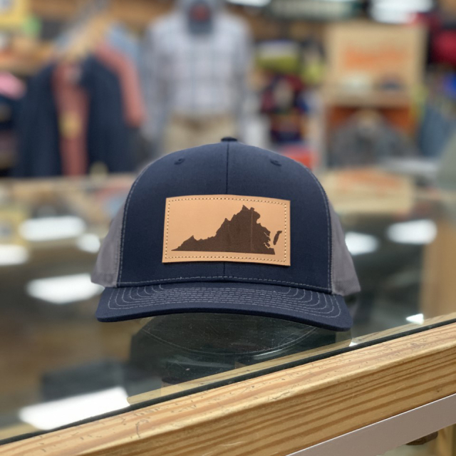 Great Outdoor Provision Co - VA LEATHER PATCH HAT NAVY