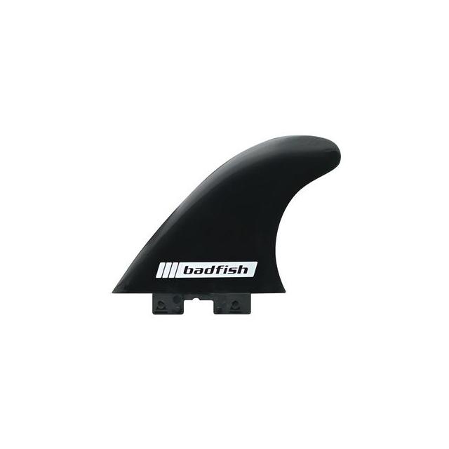 Badfish - 4.5in Soft Flex Side Bight Click Fins (Black/Pair of fins) in Edwards CO