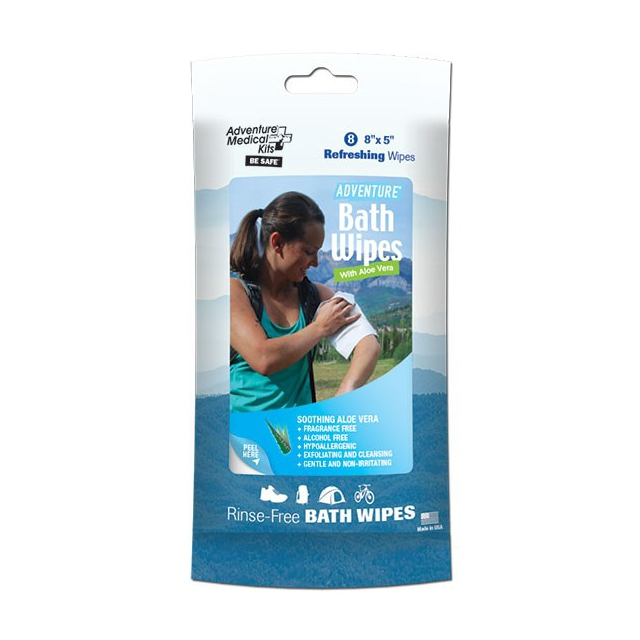 Adventure Medical Kits - Adventure Bath Wipes - Travel Size