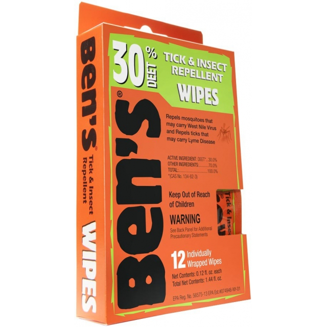 Adventure Medical Kits - Ben's 30 Wipes 12/box