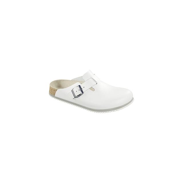 Birkenstock - Boston White Leather Super Grip